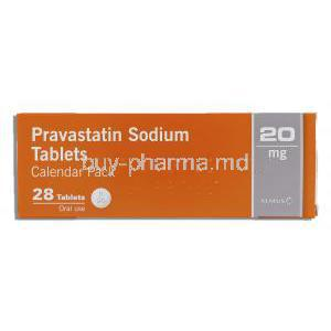 Pravastatin 20 mg box