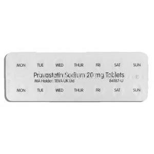 Pravastatin 20 mg packaging