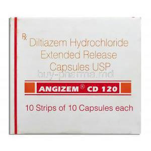 Angizem CD, Diltiazem XR 120 mg front view
