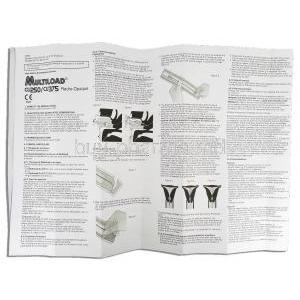 Multiload  CU 375 Intrauterine Contraceptive Device information sheet 1