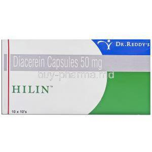 Hilin, Generic Cartidin,  Diacerein 50 Mg (Dr.Reddy's)
