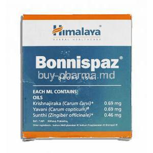 Bonnispaz Relieves Colic Drops Composition