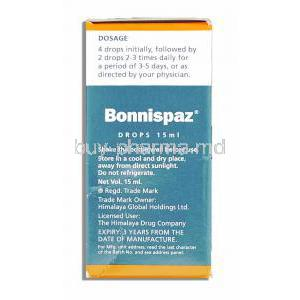 Bonnispaz Relieves Colic Drops Direction