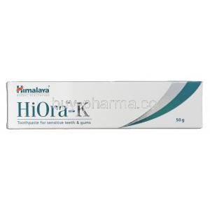 HiOra-K for sensitive teeth & gums Toothpaste Box