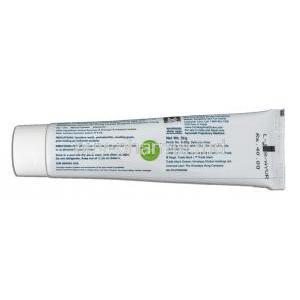 HiOra-K for sensitive teeth & gums Toothpaste Tube back