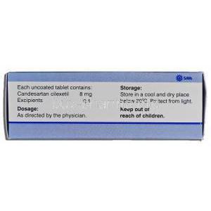 Creanz 8, Candesartan cliexetil 8mg, Box description