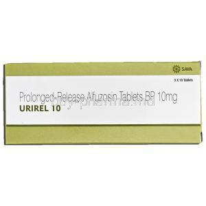 Urirel 10, Generic Uroxatral, Alfuzosin, 10mg, Prolonged-Release, Box