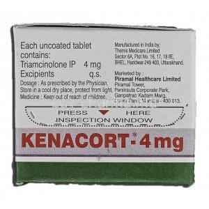 Kenacort, Generic Nasacort, Triamcinolone, 4mg, Box description