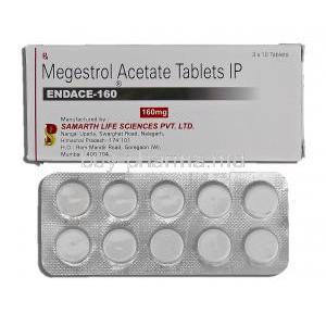Endace, Megestrol Acetate 160mg Box and Strip