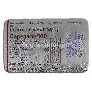 Capegard 500, Capecitabine 500mg Tablet Description