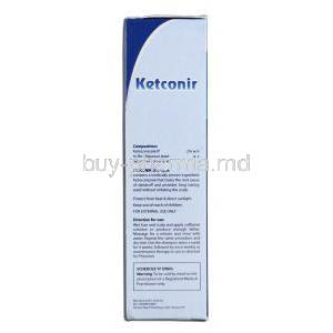 Ketconir 50 ml, Ketoconazole 2percent, Box Description
