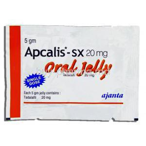 Apcalis-SX, Tadalafil 20mg Oral Jelly 5gm