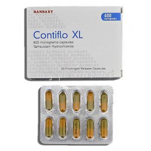 Contiflo XL, Tamsulosin HCL 400mg Box and Strip