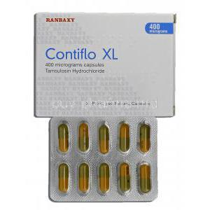 Contiflo, Tamsulosin HCL 400mg Box and Strip