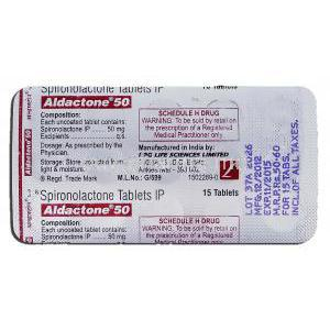 Aldactone 50, Spironolactone 50mg, Strip