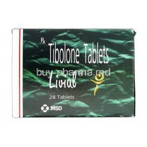 Livial, Branded, Tibolone, 2.5 mg, Box