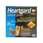 HEARTGARD PLUS CHEWABLES for Small Dogs, Ivermectin 68mcg and Pyrantel Pamoate 57mg Box