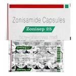 Aonisep, Zonisamide 25mg box and capsules