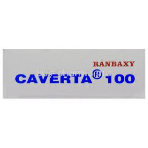 Caverta,  Sildenafil Citrate box side