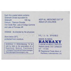 Caverta, Sildenafil Citrate box warning