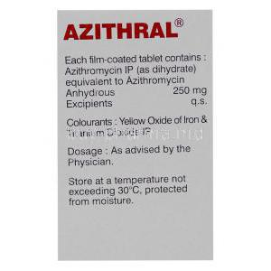 Generic Zithromax, Azithromycin 250 mg tablet box manufacturer