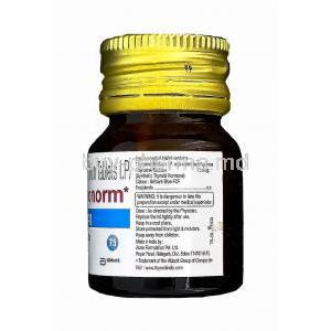 Thyronorm, Generic Synthroid, Thyroxine Sodium 75mcg manufacturer and composition