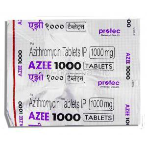 Azee, Generic Zithromax,  Azithromycin 1000 Mg Tablet (Protec)