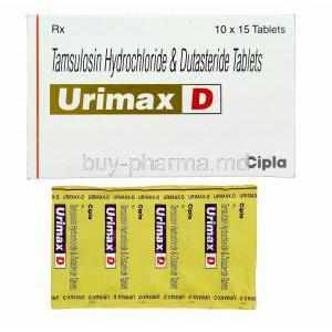 Urimax D, Generic Flomax Plus, Tamsulosin Hydrochloride 0.4mg and Dutasteride 0.5mg