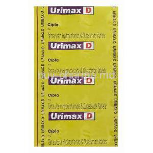 Urimax D, Generic Flomax Plus, Tamsulosin Hydrochloride 0.4mg and Dutasteride 0.5mg Tablet Blister Pack