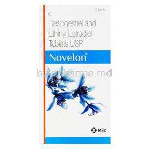 Novelon, Desogestrel 0.15mg and Ethinylestradiol 0.03mg Box