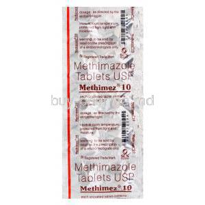 Methimez 10, Generic Tapazole, Methimazole 10mg Blister Pack Information