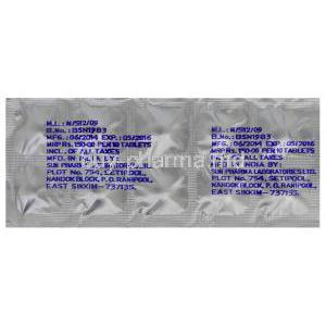 Clofranil SR, Generic Anafranil, Clomipramine Hydrochloride 75mg Sustained Release Tablet Blister Pack Batch