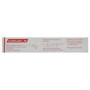 Clofranil SR, Generic Anafranil, Clomipramine Hydrochloride 75mg Sustained Release Box Information