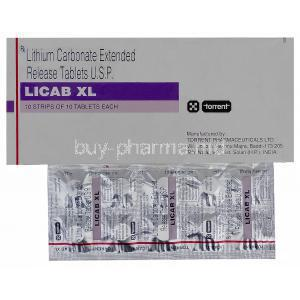 Licab XL, Generic Eskalith, Lithium Carbonate 400 毫克 Controlled Release