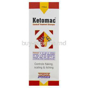 Ketomac Dandruff Treatment Shampoo, Generic Nizoral, Ketoconazole 2% 110ml Box