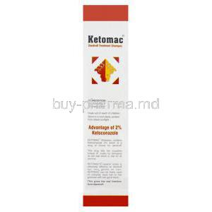Ketomac Dandruff Treatment Shampoo, Generic Nizoral, Ketoconazole 2% 110ml Box Composition