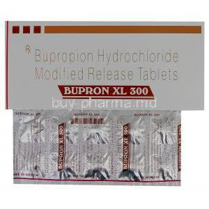 Bupron XL 300, Generic Wellbutrin XL, Bupropion Hydrochloride 300mg Modified Release