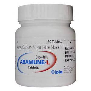 Abamune-L, Generic Kivexa, Abacavir 600mg and Lamivudine 300mg Bottle