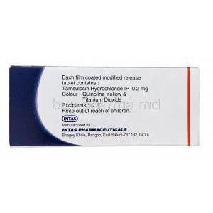 Veltam 0.2, Generic Flomax, Tamsulosin Hydrochloride 0.2mg Modified Release Box Information