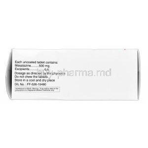 Pentasa, Mesalazine 500mg storage condition