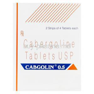 Cabgolin, Cabergoline 0.5mg Box