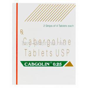 Cabgolin, Cabergoline 0.25mg Box