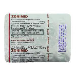 Zonimid, Zonisamide packaging