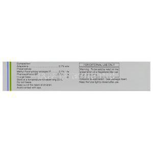 Generic  Differin, Adapalene Topical 0.1% Gel composition