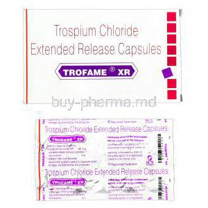 Trofame XR, Trospium Chloride 60mg Extended Release