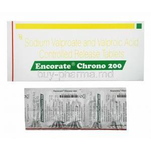 Encorate Chrono CR, Sodium Valproate/ Valproic Acid