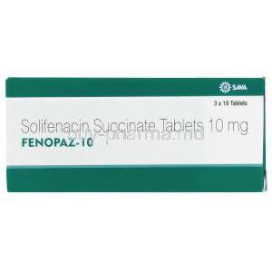 Fenopaz, Solifenacin 10mg box