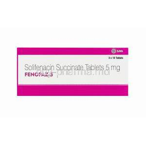 Fenopaz, Solifenacin Succinate 5mg box