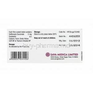 Fenopaz, Solifenacin Succinate 5mg box information