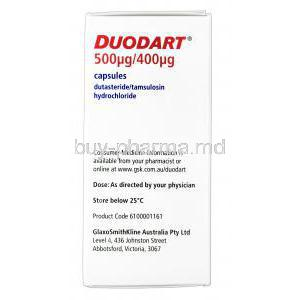Duodart, Dutasteride 0.5mg and Tamsulosin HCl 0.4mg Box Manufacturer